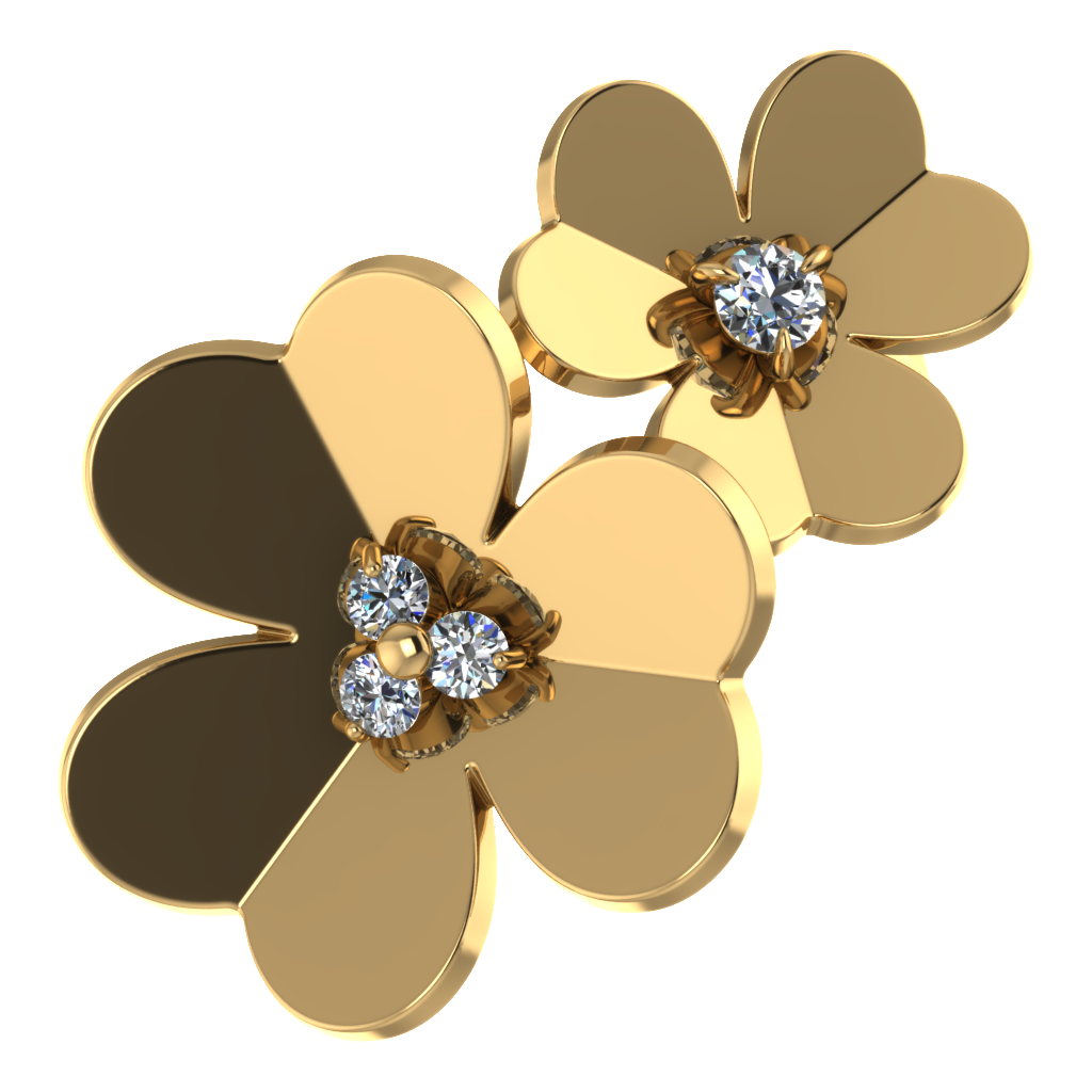 Кольцо с цветками